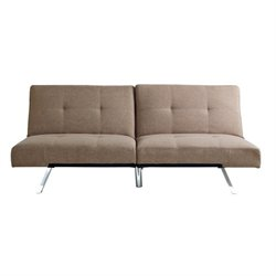 Bowery Hill Fabric Convertible Sofa in Taupe
