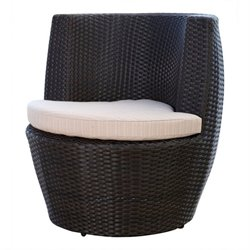Bowery Hill Outdoor Wicker Bistro Chair in Espresso