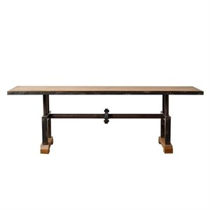 Bowery Hill Industrial Coffee Table in Beige