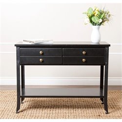 Bowery Hill Console Sofa Table in Antiqued Black