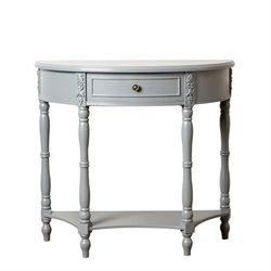 Bowery Hill Console Sofa Table in Antiqued Steel Blue