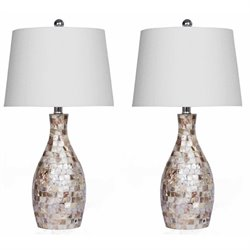 Bowery Hill Table Lamp in Mother of Pearl (Set of 2)