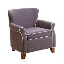 Bowery Hill Kids Fabric Mini Armchair in Gray