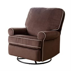 29348 - Fabric Swivel Glider Recliner Chair