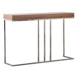 Bowery Hill Wood Console Table in Walnut