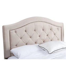Bowery Hill Tufted Velvet King California King Headboard