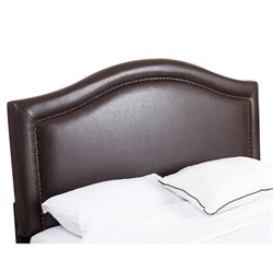 Bowery Hill Leather Upholstered Full Queen Headboard