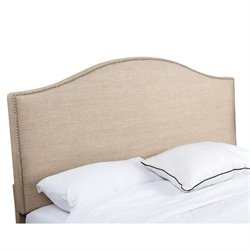 Bowery Hill Linen Upholstered King California King Headboard
