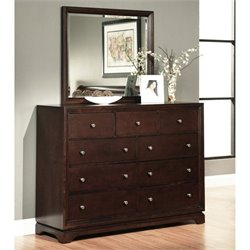 Bowery Hill 2 Piece Wood Dresser Set in Espresso