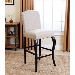 Bowery Hill Upholstered Bar Stool in Natural