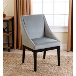 Bowery Hill Curved Dining Chair in Teal