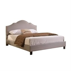 Bowery Hill Queen Upholstered Bed in Gray