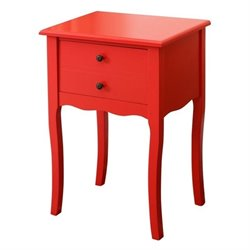 Bowery Hill End Table in Red