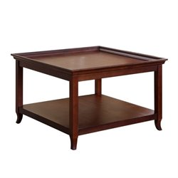 Bowery Hill Square Coffee Table in Light Brown
