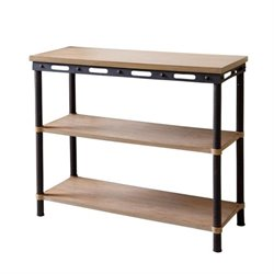 Bowery Hill 3 Shelf Console Table in Natural
