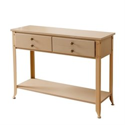 Bowery Hill Demarco 4 Drawer Console Table in Beige