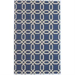 Bowery Hill 3' x 5' New Zealand Wool Rug in Navy Blue