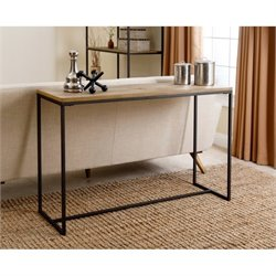 Bowery Hill Industrial Console Table in Natural