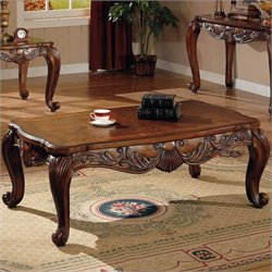 Bowery Hill Traditional Coffee Table in Deep Brown