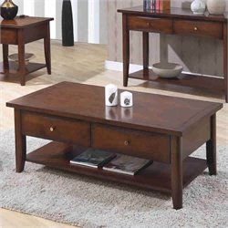 Bowery Hill Storage Coffee Table in Walnut