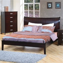 Bowery Hill Queen Platform Bed in Cappuccino