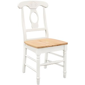 Bowery Hill Dining Chair in White and Natural