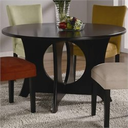 Bowery Hill Round Dining Table with Crossing Pedestal Base