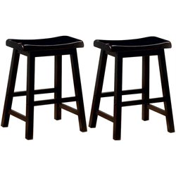 MER-757 Bowery Hill Wooden Stool in Black