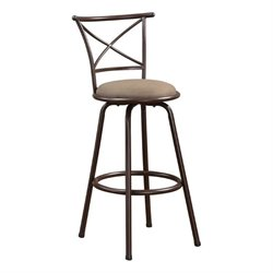 MER-757 Bowery Hill Metal Stool in Brown