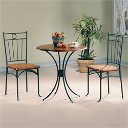 Bowery Hill 3 Piece Bistro Set in Natural Oak