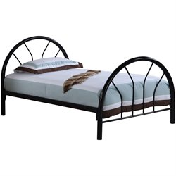 Bowery Hill Twin Metal Bed in Black