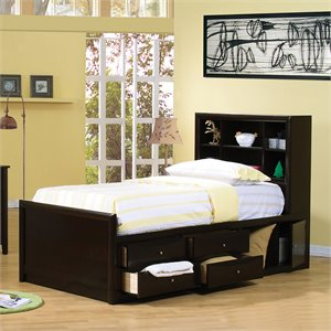 Bowery Hill Bookcase Storage Bed