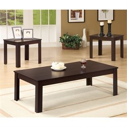 Bowery Hill 3 Piece Occasional Table Set in Walnut