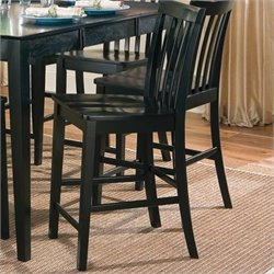 Bowery Hill Slat Back Counter Stool in Black