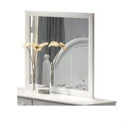 Bowery Hill Dresser Mirror in Distressed White
