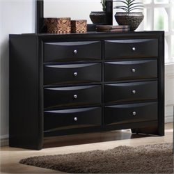 Bowery Hill 8 Drawer Dresser in Glossy Black