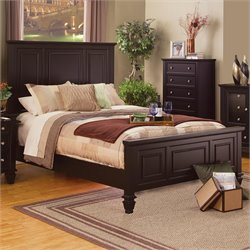 Bowery Hill Queen Panel Bed in Cappuccino