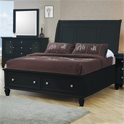 Bowery Hill Sleigh Bed with Storage Footboard