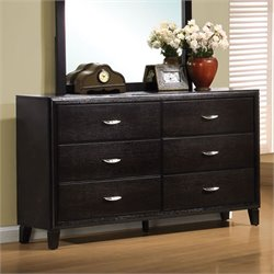Bowery Hill 6 Drawer Dresser in Brown Black Stain