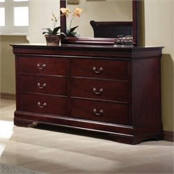 MER-757 Bowery Hill 6 Drawer Double Dresser