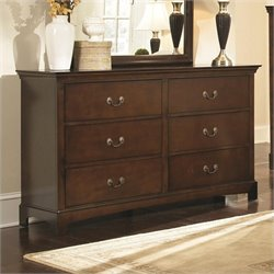 Bowery Hill 6 Drawer Double Dresser in Espresso