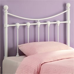 Bowery Hill Twin Metal Headboard in White