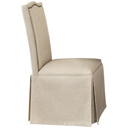 Bowery Hill Parsons Dining Chair with Skirt in Light Brown and Tan