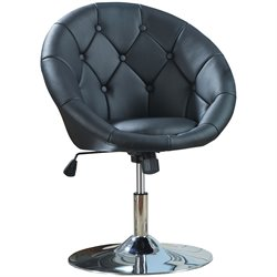 Bowery Hill Round Tufted Swivel Bar Stool