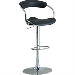 Bowery Hill Adjustable Bar Stool in Black