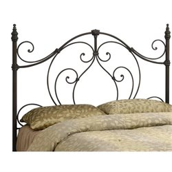 Bowery Hill Full Queen Spindle Headboard in Black and Bronze