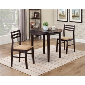 Bowery Hill Dinettes Casual 3 Piece Table and Chair Set
