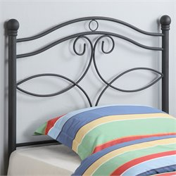 Bowery Hill Twin Metal Headboard in Black