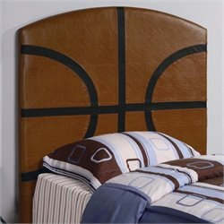 Bowery Hill Twin Basketball Panel Headboard in Brown