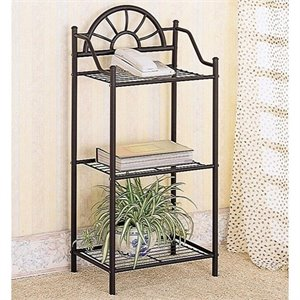 Bowery Hill Sunburst Metal Accent Table in Black